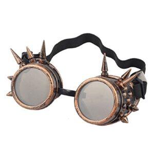 Gafas steampunk de bronce con pinchos