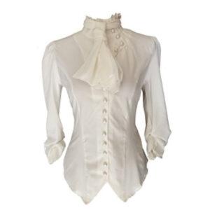 Blusa victoriana blanca