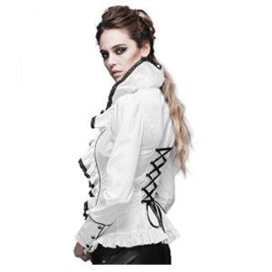 blusa blanca gotica