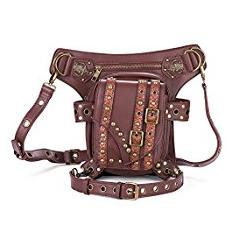 bolso de cuero marrón para hombro o cintura