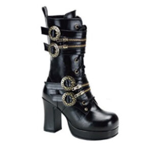 Botas steampunk góticas negras