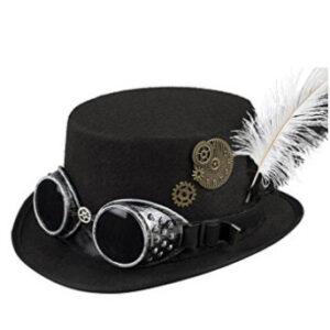 Sombrero-estilizado-con-pluma-y-gafas