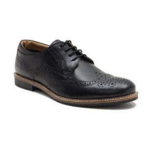 Zapatos de cuero con talon acolchado