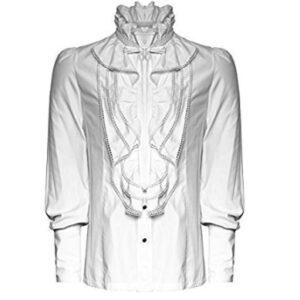 camisa gotica blanca para hombre