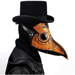 mascara de pájaro steampunk