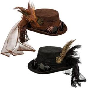 Sombrero de Copa baja Steampunk de NET TOYS