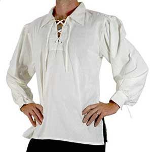 Camisa-de-cordones-para-hombre-en-blanco-o-negro