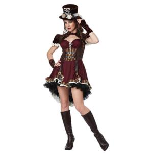 Cosplay steampunk aventurera tipo Caitlyn