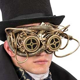 Mascara-dorada-con-gafas-steampunk-(plastico)