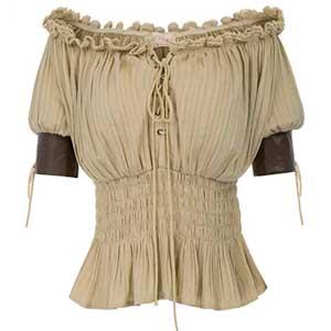 Para mujer 100% algodón de hombro descubierto