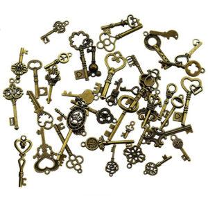 Set de 40 llaves de bronce vintage
