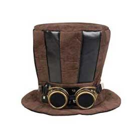 Sombrero cilindro tuba con gafas