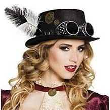 Sombrero de chica con gafas y pluma