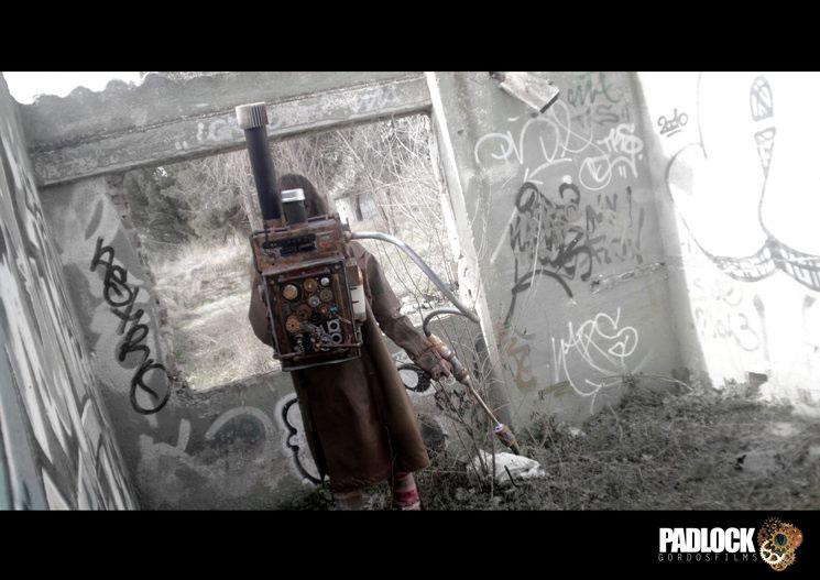 Padlock cortometraje steampunk mochila