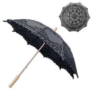 Parasol-de-encaje-negro-blanco-y-beige