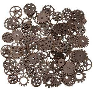 Set de 200g de engranajes de bronce antiguo