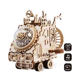Puzzle 3D vehículo steampunk (funciona a cuerda)