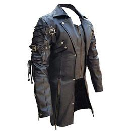 Chaqueta Steampunk de cuero disfraz Van Helsing