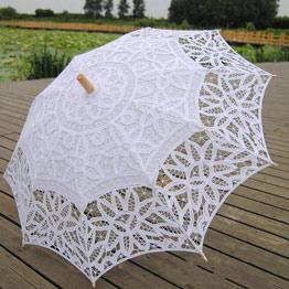 Parasol victoriano para bodas blanco o beige