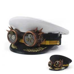 Sombrero marinero (sargento) steampunk con gafas incorporadas