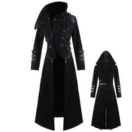 Chaqueta gótica con capucha